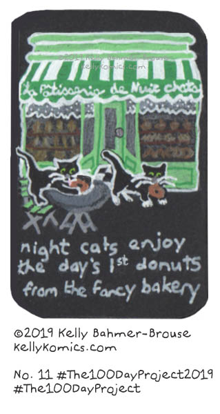 night cats at the patisserie